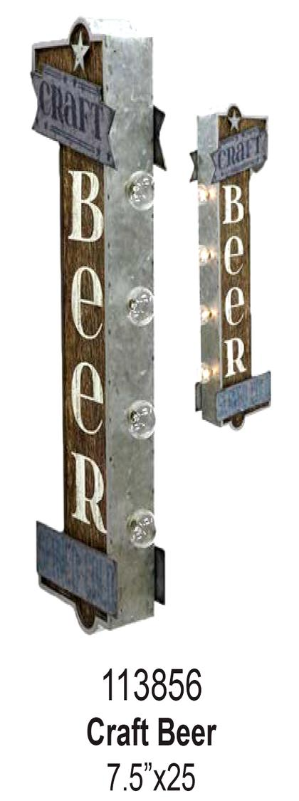 CRAFT BEER OFF THE WALL LED SIGN