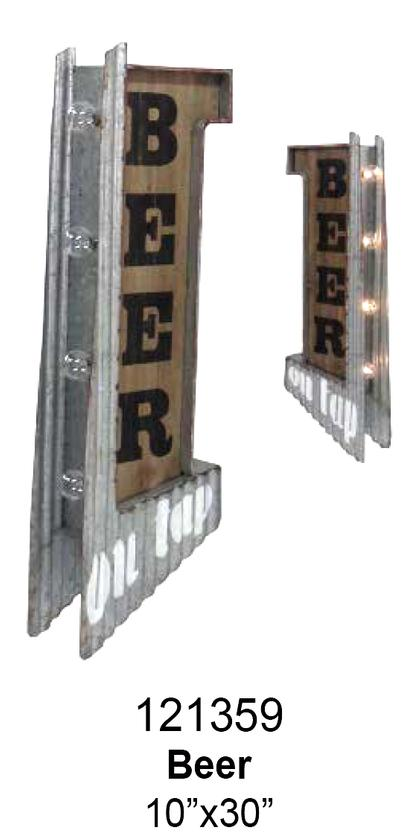 BEER ON TAP OFF THE WALL LED SIGN