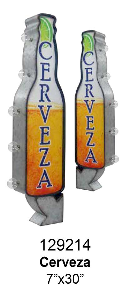 CERVEZA OFF THE WALL LED SIGN