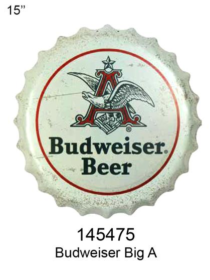 Budweiser Bottle Cap With A 15 ' Diameter