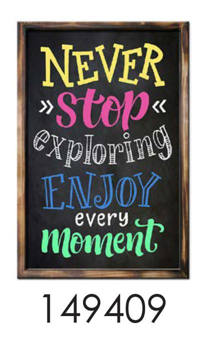 NEVER STOP  12x24 rustic bright