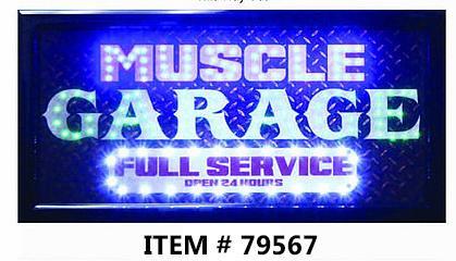 LED FRAME -MUSCLE GARAGE- 10x19