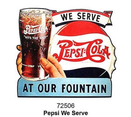 Plate cut-laminated -PEPSI-COLA-18x18