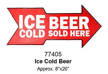 Plate cut-laminated -ICE COLD BEER-   8x20