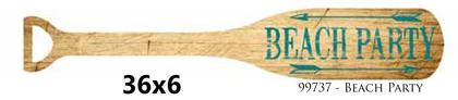 Wooden paddle Laminated 6x36 -BEACH PARTY-
