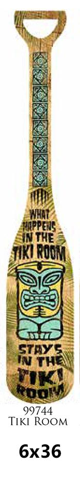 Wooden paddle Laminated 6x36 -TIKI ROOM-