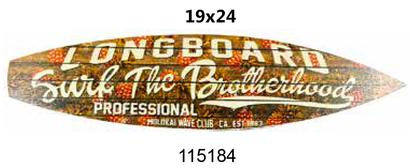 Surfboard laminated 19x24 -Surfing THE BROTHERHOOD-