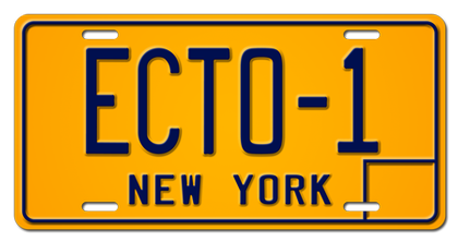 ECTO-1  Ghostbusters license plate