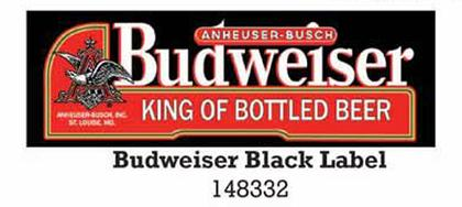 Budweiser KING OF BOTTELED BEER  8X24