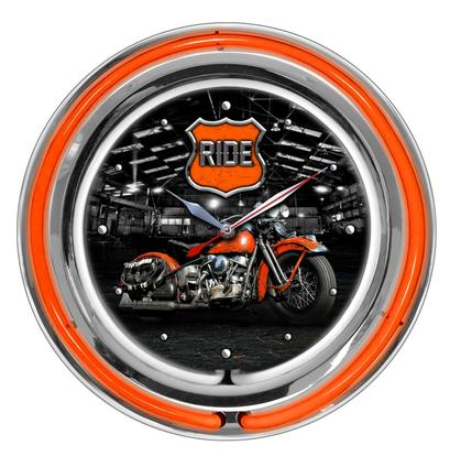 RIDE - DOUBLE NEON Clock - Warehouse 17