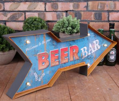 Metal LED Art 3D - Beer Bar