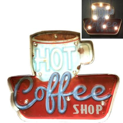 Metal LED Art 3D - Hot Coffee