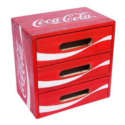 Coca-Cola wood crate desktop Drawer