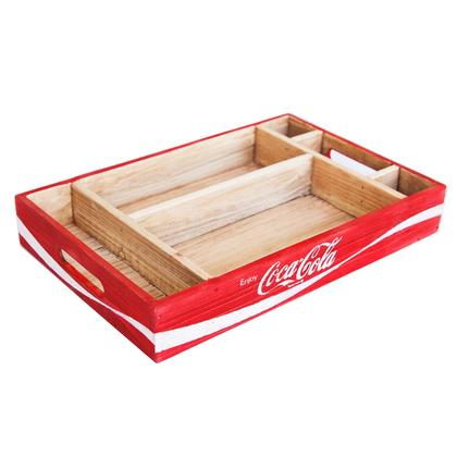 Coca-Cola Wood Crate Desk Organizer