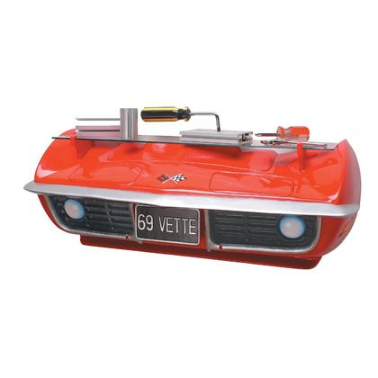 69 CORVETTE 3D Wall shelf (Red)