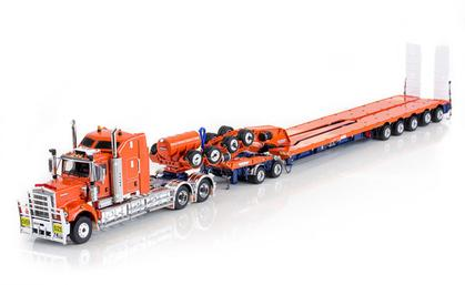 Kenworth C509 with Drake 2x8 Dolly and 5x8 Swingwing Combination Trailer