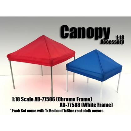 Set of 2 Canopy 1/18 (White frame)