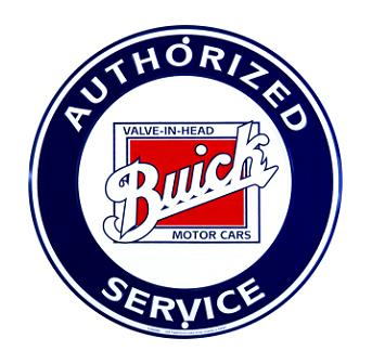 Metal sign BUICK SERVICE 24