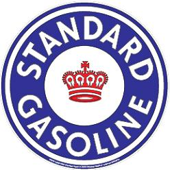 Metal sign STANDARD GASOLINE 24