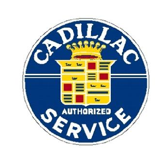 Metal sign CADILLAC SERVICE 24