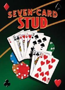 Metal sign SEVEN-CARD STUD 12,5