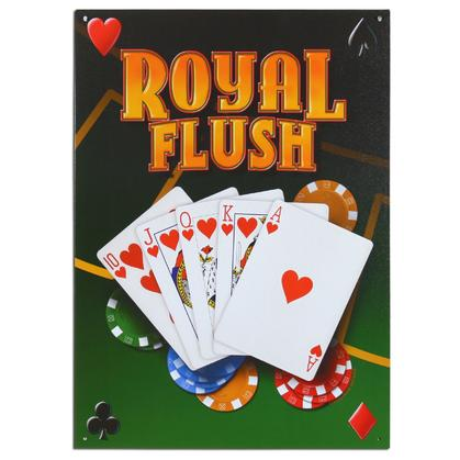 Metal sign ROYAL FLUSH 12,5