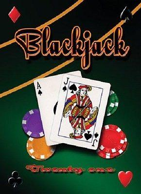 Metal sign BLACKJACK 12,5