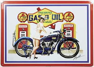 Metal sign GAS & OIL 12,5