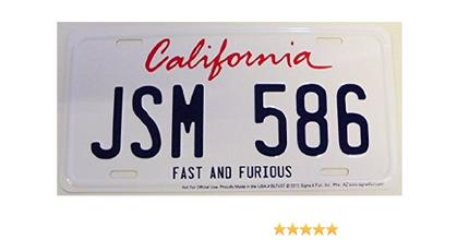 FAST AND FURIOUS CALIFORNIA JSM 586