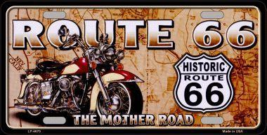 ROUTE 66 - WITH ANTIQUE MOTORCYCLE