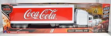 COCA-COLA / PETERBILT 387 WHITE LONG HAULER