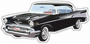 1957 Chevy Die Cut