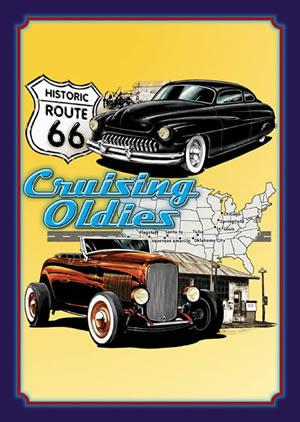 ROUTE 66  - Cruising Oldie - Metal sign 16 3/4
