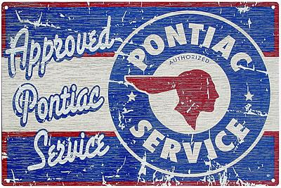 Pontiac Service - Approved - Metal sign 16 3/4