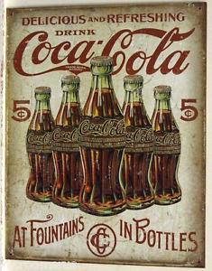 COCA-COLA  IN BOTTELS METAL SIGN   E2091