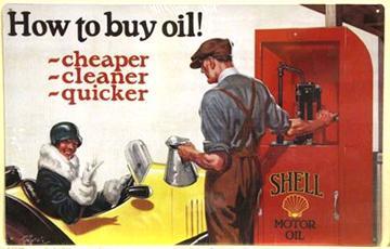 SHELL MOTOR OIL -  Metal sign 17.75