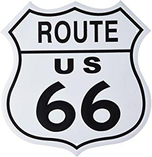 ROUTE 66 - XXL - METAL SIGN 23.5