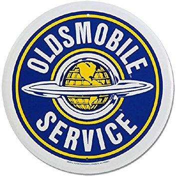 OLDSMOBILE SERVICE - Metal sign **XXL** 23.5 Dia.