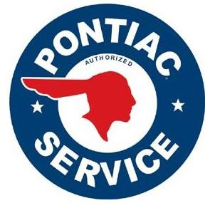 PONTIAC SERVICE - Metal sign  **XXL** 23.5
