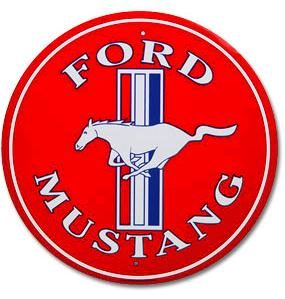 FORD MUSTANG - Metal sign  **XXL** 23.5 Dia.