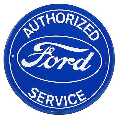 FORD AUTHORIZED SERVICE - -Metal sign **XXL** 23.5 Dia.