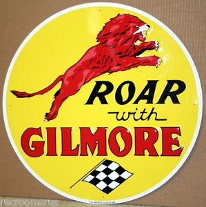 ROAR WITH GILMORE --Metal sign **XXL** 23.5 Dia.