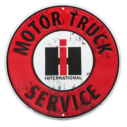 INTERNATIONAL MOTOR TRUCK SERVICE  Metal sign **XXL** 23.5 Dia.