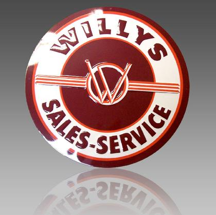 WILLYS SALES-SERVICE -- Metal sign **XXL** 23.5 Dia.