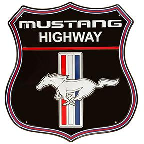 MUSTANG HIGHWAY Metal sign **XXL** 23.5