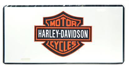 CAR PLATE HARLEY DAVIDSON - WHITE BACKGROUND