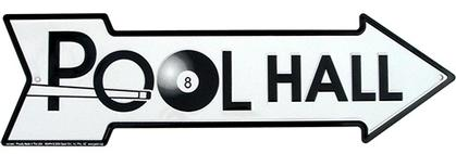 POOL HALL  - Metal sign 20 '