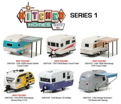 Hitched Homes Series 1 1:64 Set