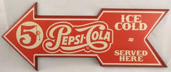 PEPSI COLA  ICE COLD  SERVE HERE
