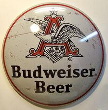 BUDWEISER BEER BUTTOM